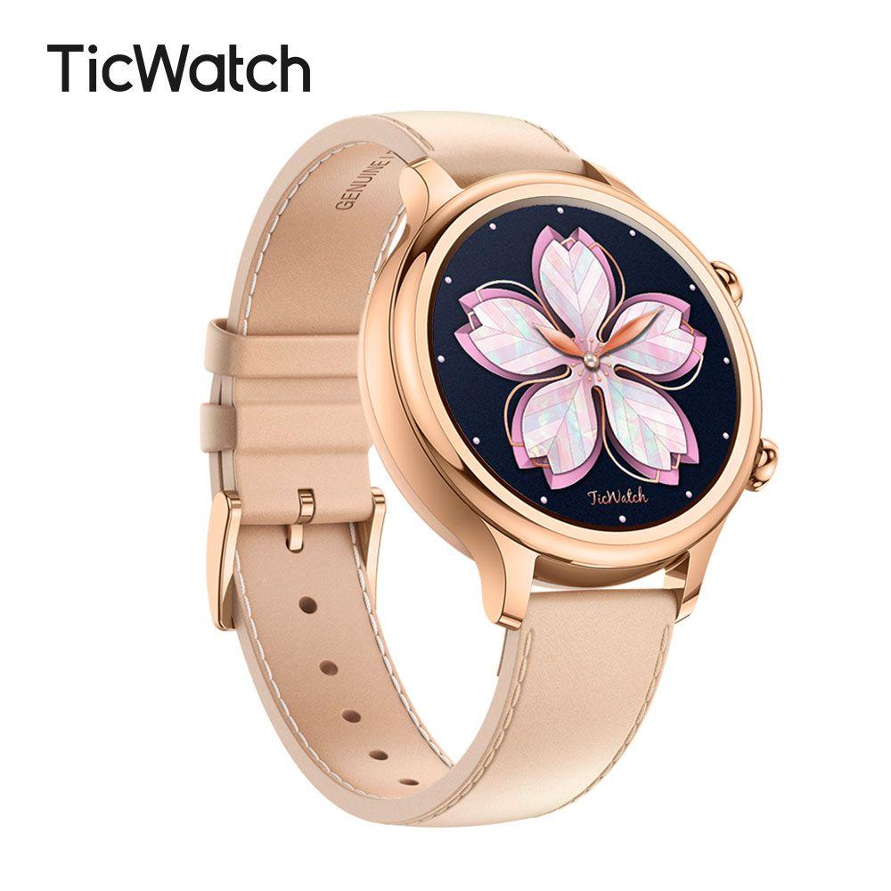 Ticwatch C2 Rose Gold Smart Uhr Bluetooth Smartwatch mit GPS Android & iOS kompatibel IP68 Wasserdichte Mobvoi Design Original