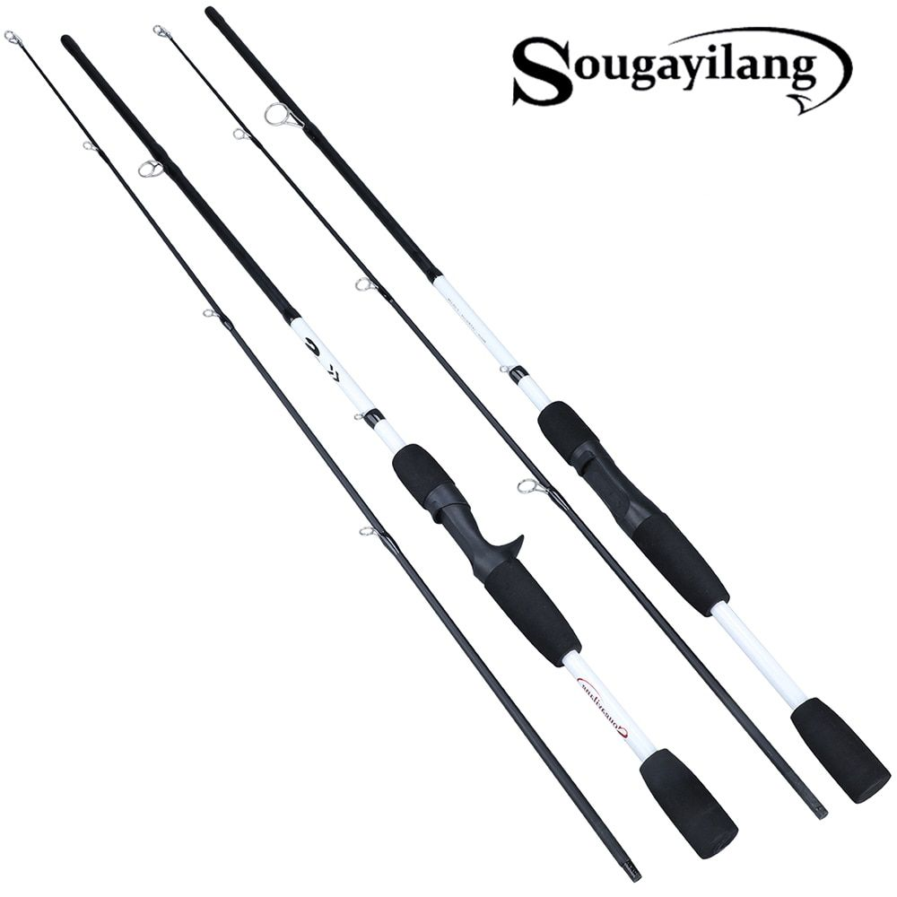 Sougayilang 165cm Carbon Spinning Fishing Rod M Power Fishing Tackle Lure Rod Lure Casting Rod Canne Spinnng Spinning Fishing