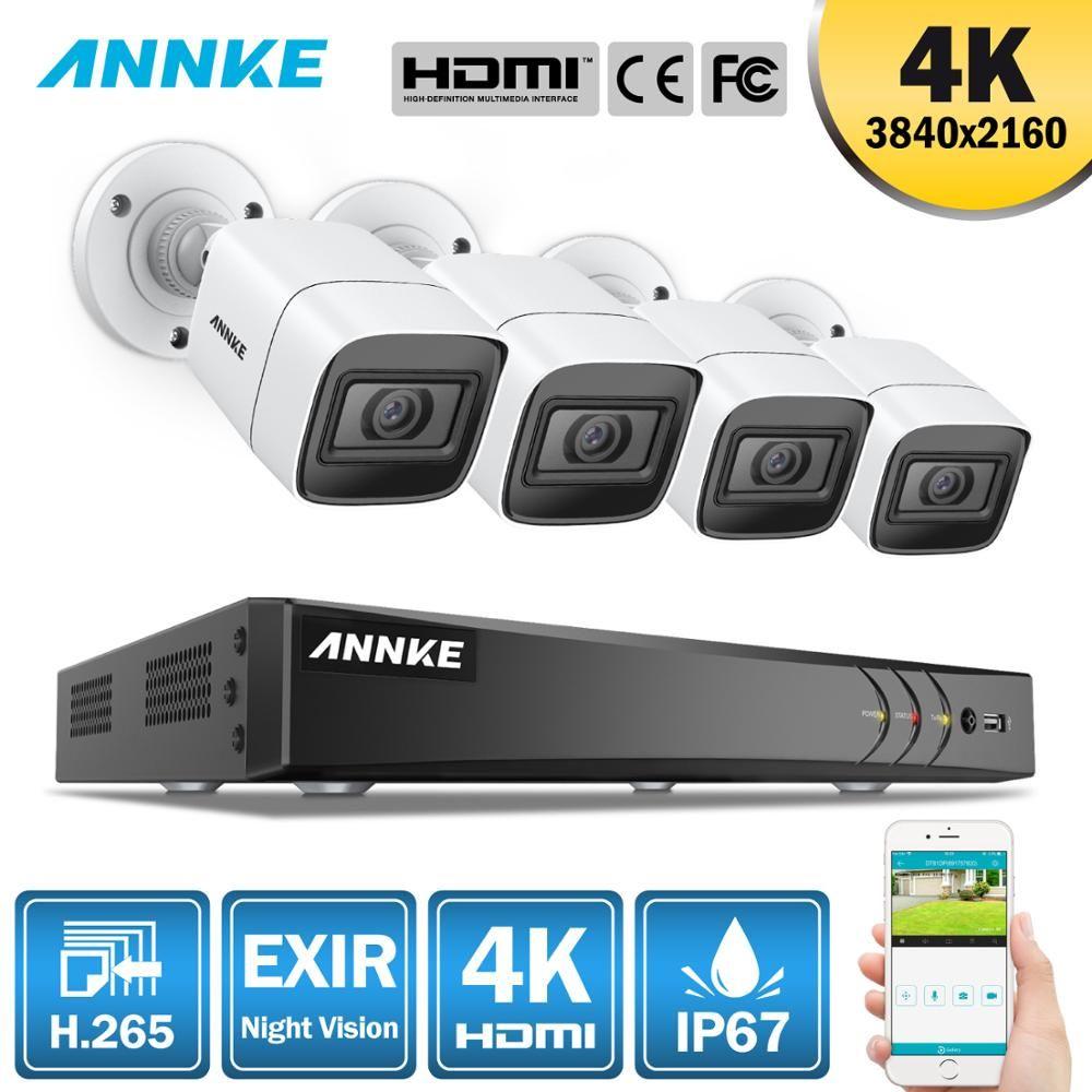 ANNKE 4K 8CH HD Ultra Clear Aufnahmen CCTV Sicherheit System 5in1 H.265 DVR Mit 4X Oder 8X8 megapixel Outdoor Wetterfeste Home Video Kit