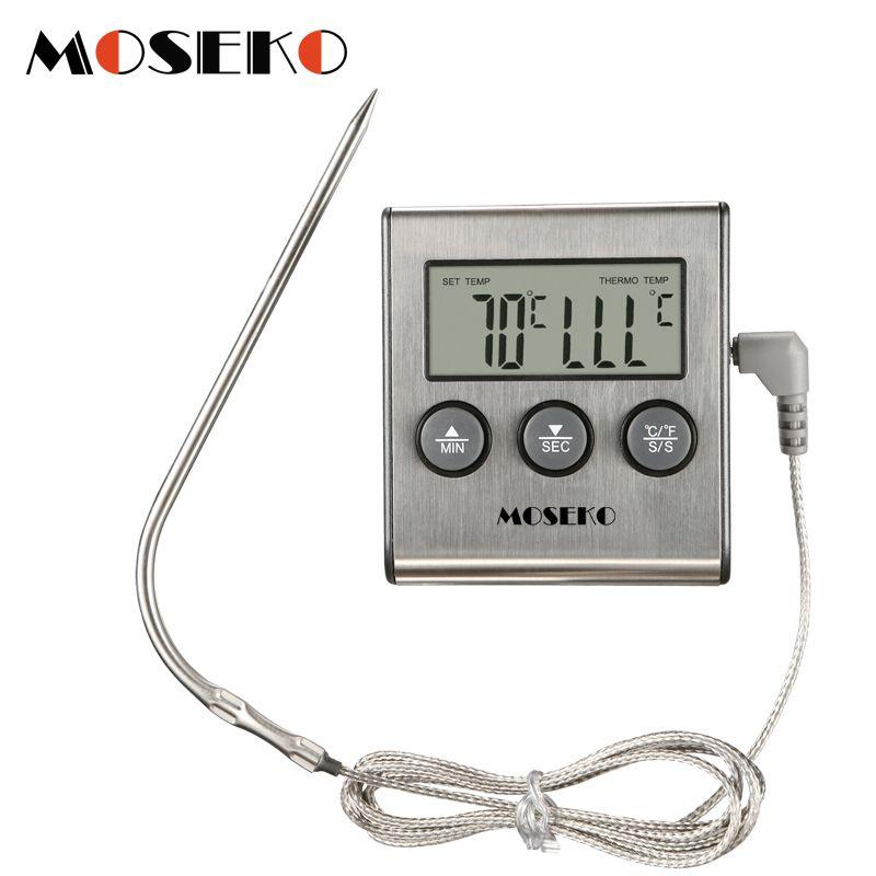 MOSEKO thermomètre de cuisine numérique four nourriture cuisson viande BBQ sonde thermomètre avec minuterie lait eau température outils de cuisson