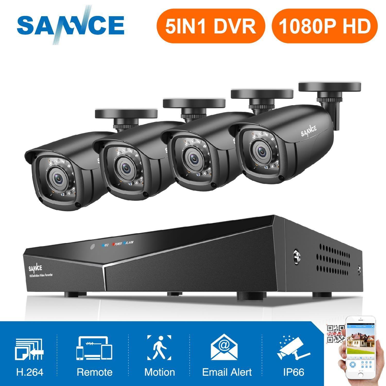 SANNCE HD 8CH CCTV Système 1080P HDMI DVR 2.0MP CCTV Caméra De Sécurité 4 pièces 1080P IR Caméra Extérieure kit De Vidéosurveillance