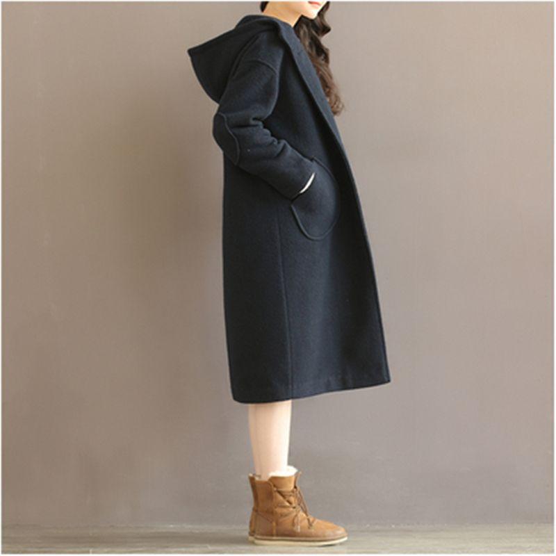 Hiver femmes manteau 2019 grande taille à capuche Plus coton laine manteau mode de haute qualité femmes coton veste épaisse manteau AB238