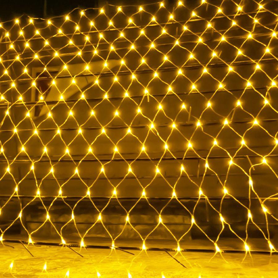 BEIAIDI 2x2M 3x2M 6x4M réseau de LED maille fée chaîne guirlande lumineuse rideau de fenêtre noël fée lumière fête de mariage lumière de vacances