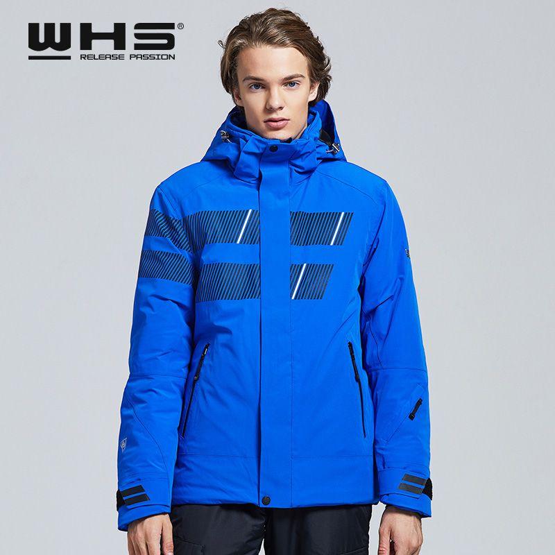 WHS 2019 Neue männer Outdoor Ski Jacken winddicht männer warme Mantel männer schnee jacke Teenager Dünne kleidung männlich Warme Jacke