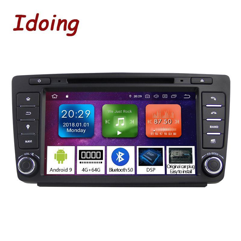 Idoing Android 9.0 4G + 64G 8Core 2Din Lenkung-Rad Für Skoda Octavia 2 Auto Multimedia DVD player 1080P HDP GPS + Glonass 2 din