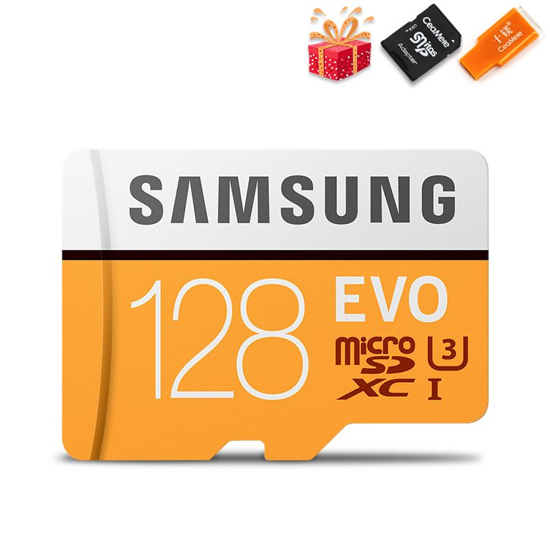 SAMSUNG Microsd Card 256G 128GB 64GB 100Mb/s Class10 U3 32GB 95Mb/s U1 SDXC Grade EVO Micro SD Card Memory Card TF Flash Card