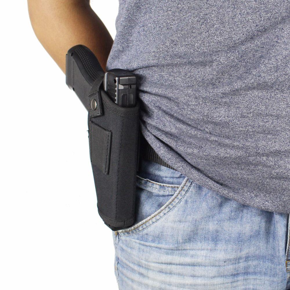 Étui de pistolet de transport dissimulé Holsters ceinture pince en métal IWB OWB étui Airsoft pistolet sac Articles de chasse pour toutes les tailles armes de poing