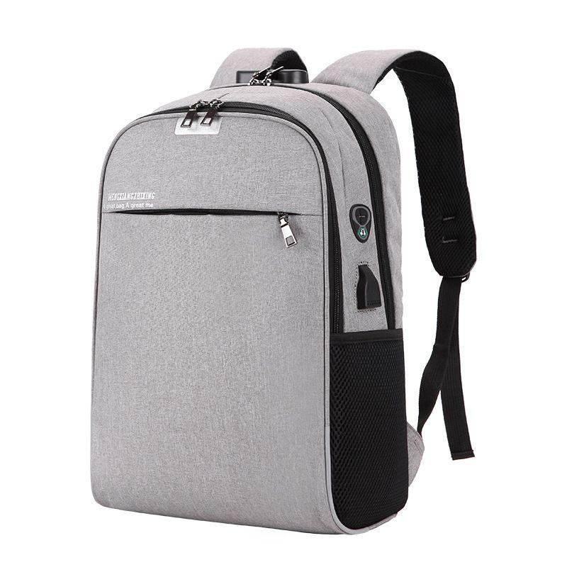 Frontière transfrontalière pour hommes double sac à bandoulière USB étanche mot de passe d'affaires sac à dos réfléchissant sac de voyage fabricants en gros
