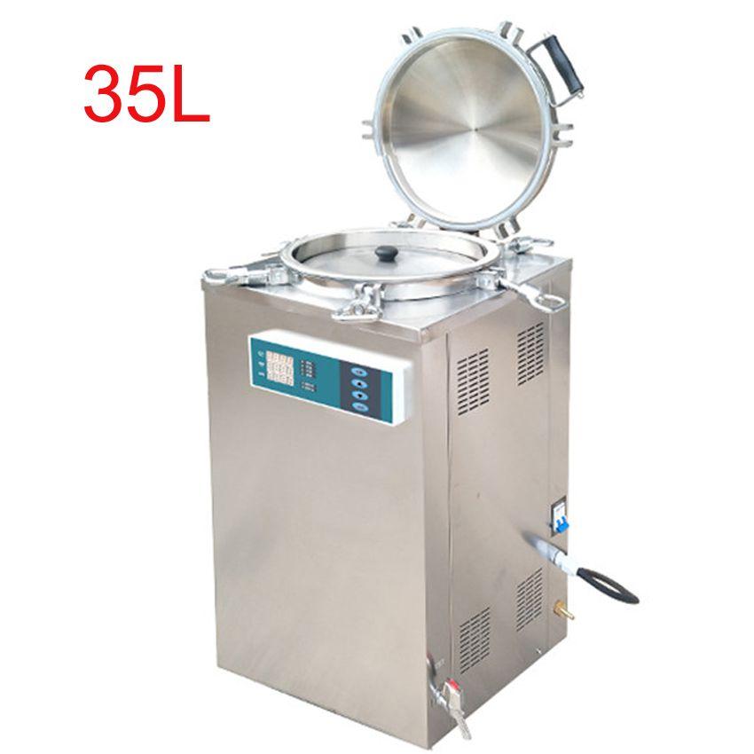 35L 2.5KW Edelstahl Sterilisation Druck Dampf Sterilisator Automatische Desinfektion Schrank Für Chirurgische Medizinische LS-35LD