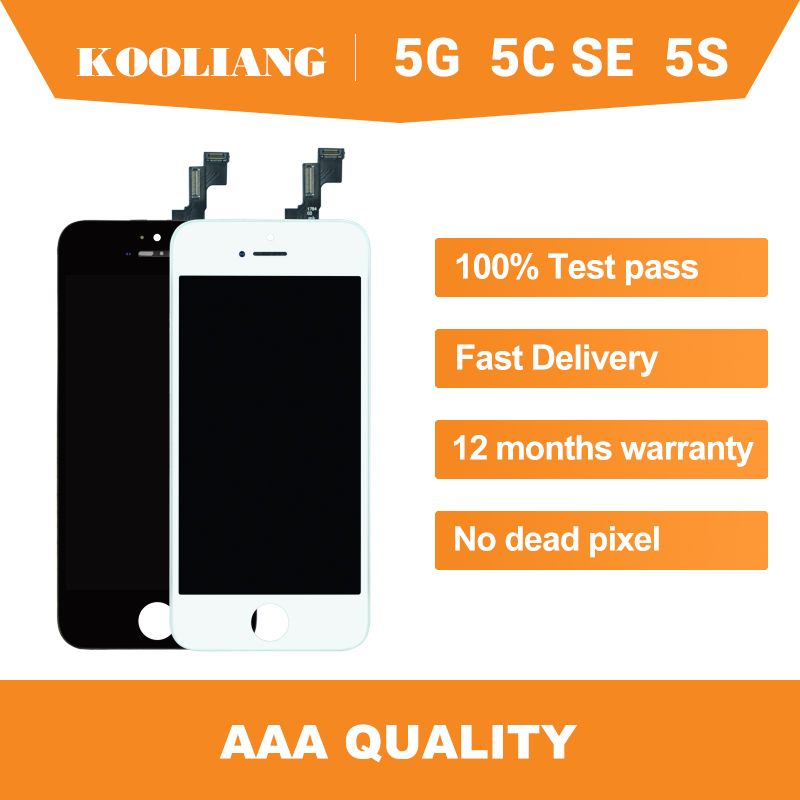 Sur l'entrepôt russe AAA + + + ekran pour iPhone 5 5S SE 5C LCD écran tactile numériseur montage complet noir blanc