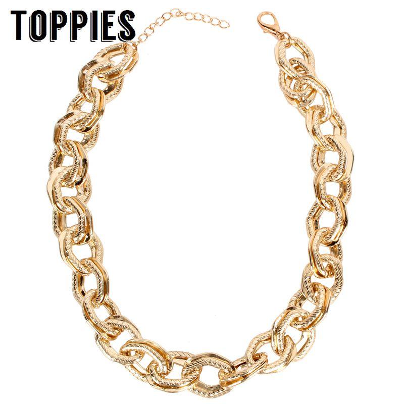 Mode déclaration collier Choker or chaîne collier dame fête bijoux 2019 femmes accessoires