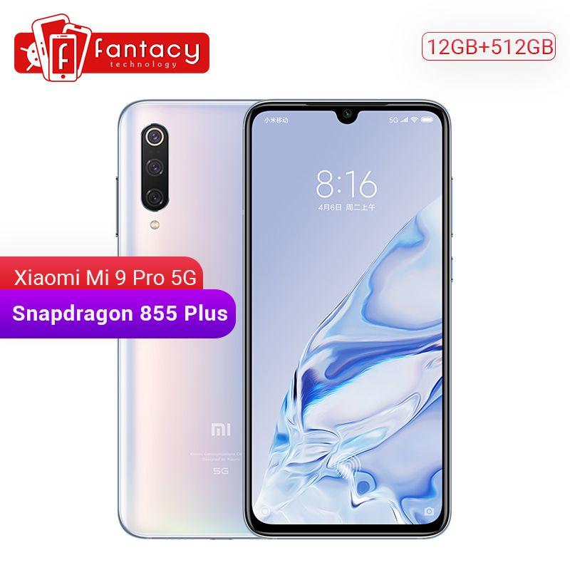 Original Xiao mi mi 9 pro mi 9 Pro (5G) 12GB 512GB Smartphone Snapdragon 855 Plus 4000mAh Batterie 48MP Triple Kameras 45W Ladegerät