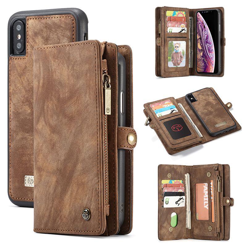 Étui pour iPhone X XR XS Max 8 7 6 6s Plus étui à rabat étui portefeuille étui pour téléphone d'affaires magnétique pour iPhone 11 Pro