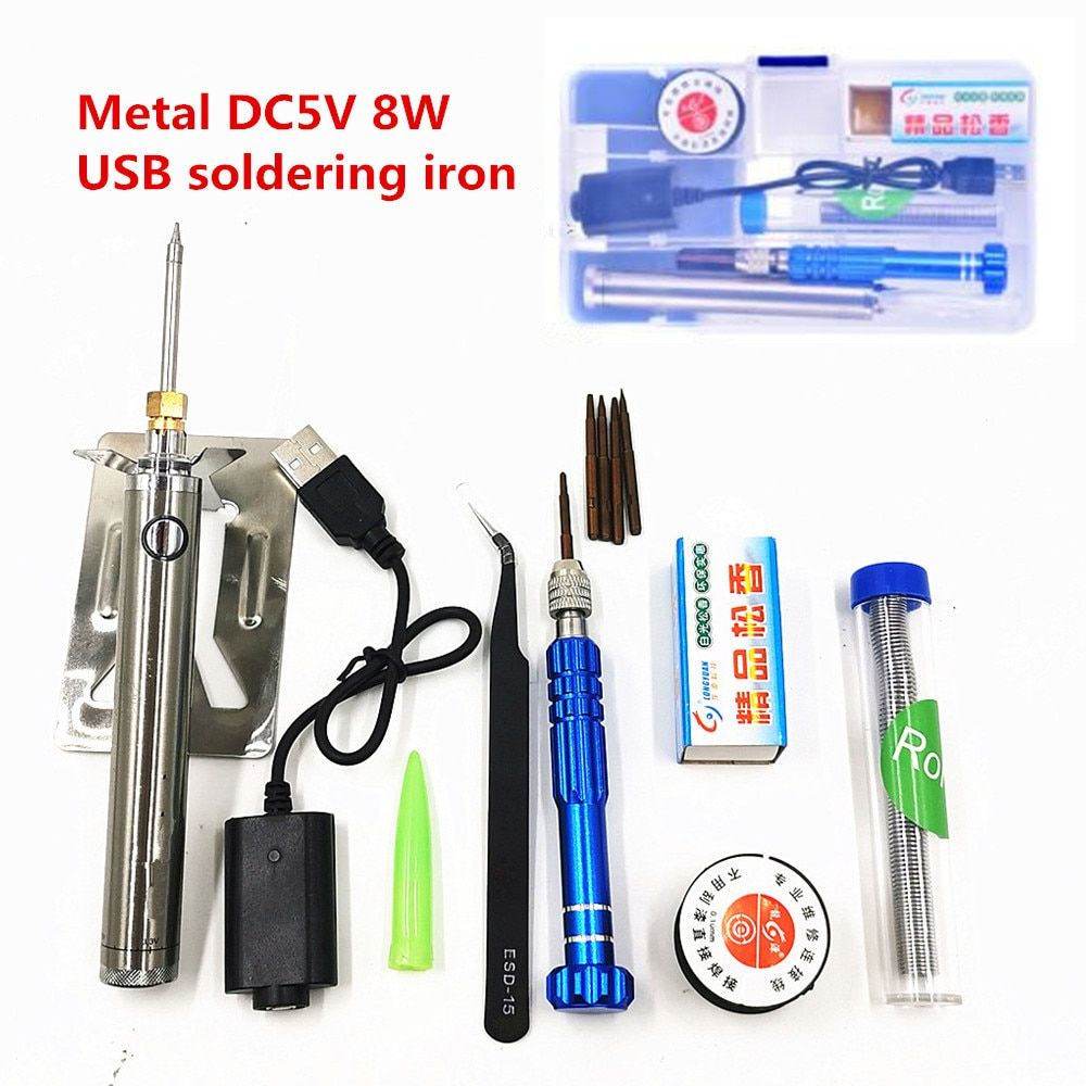 5V 8W USB Soldering Iron Wireless Charging soldering station Mini portable Battery Soldering Iron with USB Welding Tools
