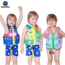 Megartico Life Vest Anak 2 3 4 5 6 Tahun Old Anak Swim Trainer Rompi Hiu Biru Renang Rompi Anak life Jacket Pelampung Busa Float Pad