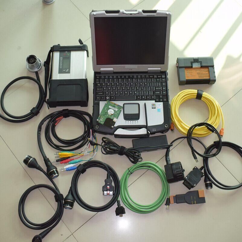Mb stern c5 multiplexer für bmw icom 2in1 diagnose werkzeug in laptop cf-30 mit 1tb hdd neueste software 2019,09 bereit zu verwenden