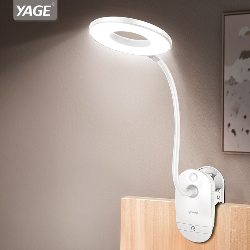 Clip Wireless Table Lamp Study 3 Modes Touch 1200mAh Rechargeable LED Reading Desk Lamp 7000K USB Table Light Flexo Lamps Table