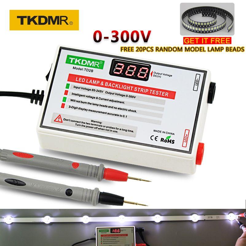 TKDMR nouveau testeur de LED 0-300V sortie LED TV rétro-éclairage testeur polyvalent ampoules LED perles outil de Test Instruments de mesure