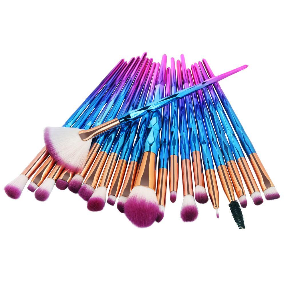 2019 New Diamond 20Pcs Professional Makeup Brushes Comestic Tool Set Make up Brush Tools