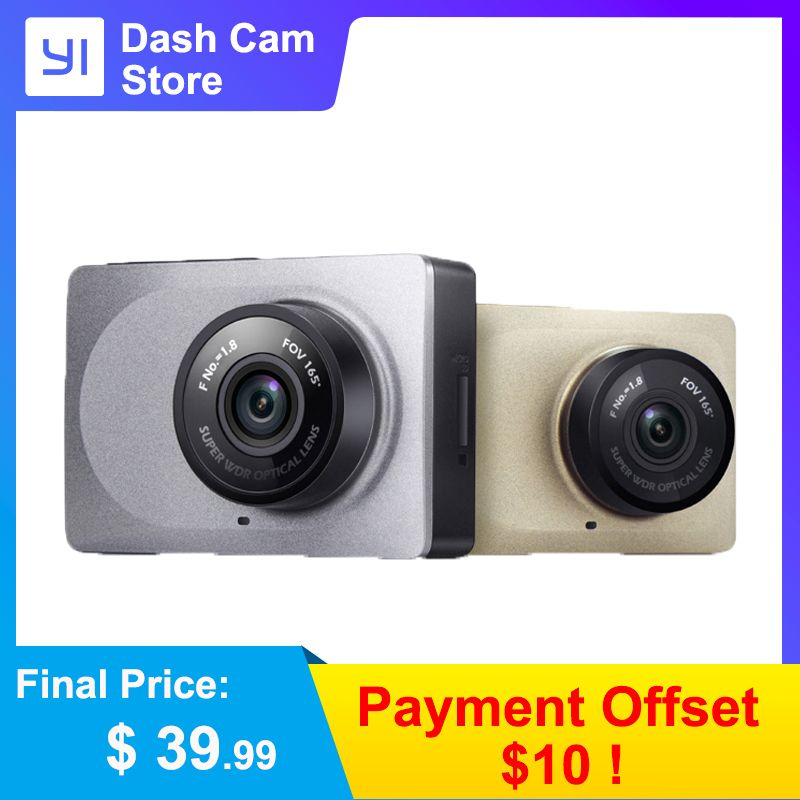 YI Smart Dash Camera Video Recorder WiFi Full HD Car DVR Cam Night Vision 1080P 2.7