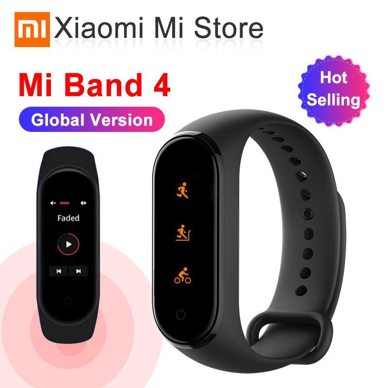 En Stock Version mondiale Xiaomi band 4 Smartband 3 couleur écran fréquence cardiaque miband 4 Fitness Bracelet Bluetooth 5.0 étanche