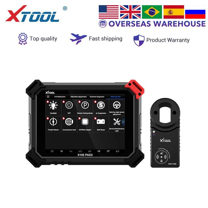 XTOOL X100 PAD2 PRO Auto schlüssel programmierer kilometerzähler einstellung OBD2 auto diagnose werkzeug professionelle Wegfahrsperre für Audi 4th 5th