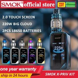 100%Original SMOK X-PRIV Kit with 8ml TFV12 Prince Tank Vaporizer 225W X PRIV Mod Electronic Cigarette SMOK VAPE Kit VS G-priv 2