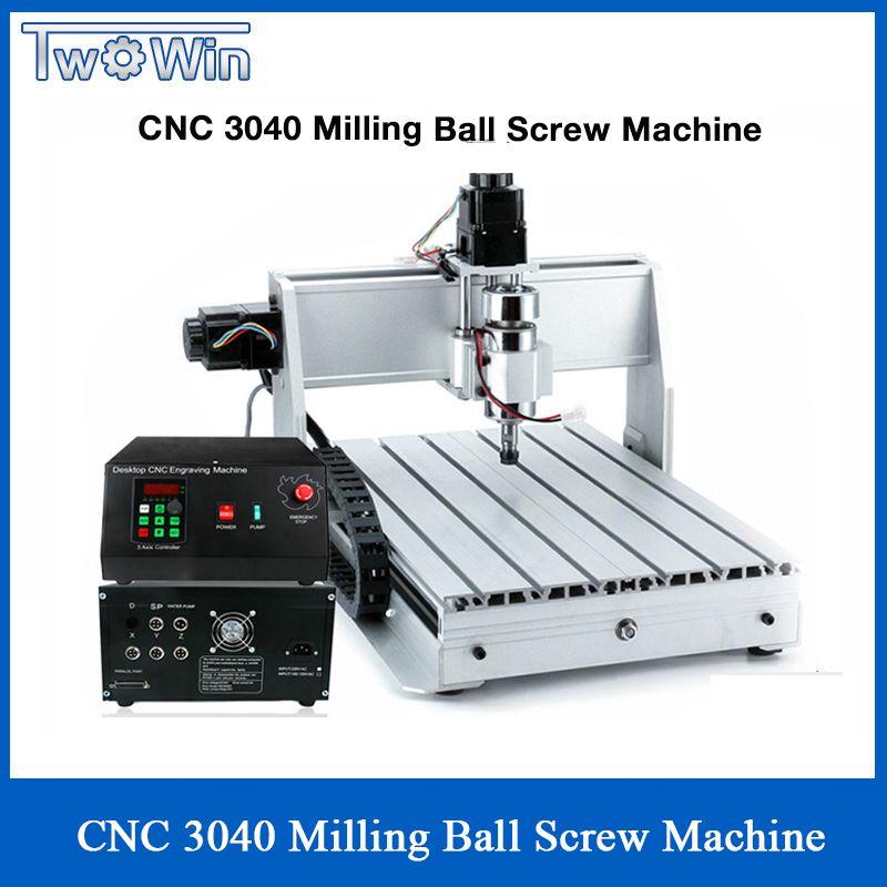 1.5KW Drei-achse Ball schraube CNC Router Vier-achsen Engraver Gravur Fräsen Bohren Schneiden Maschine CNC 3040