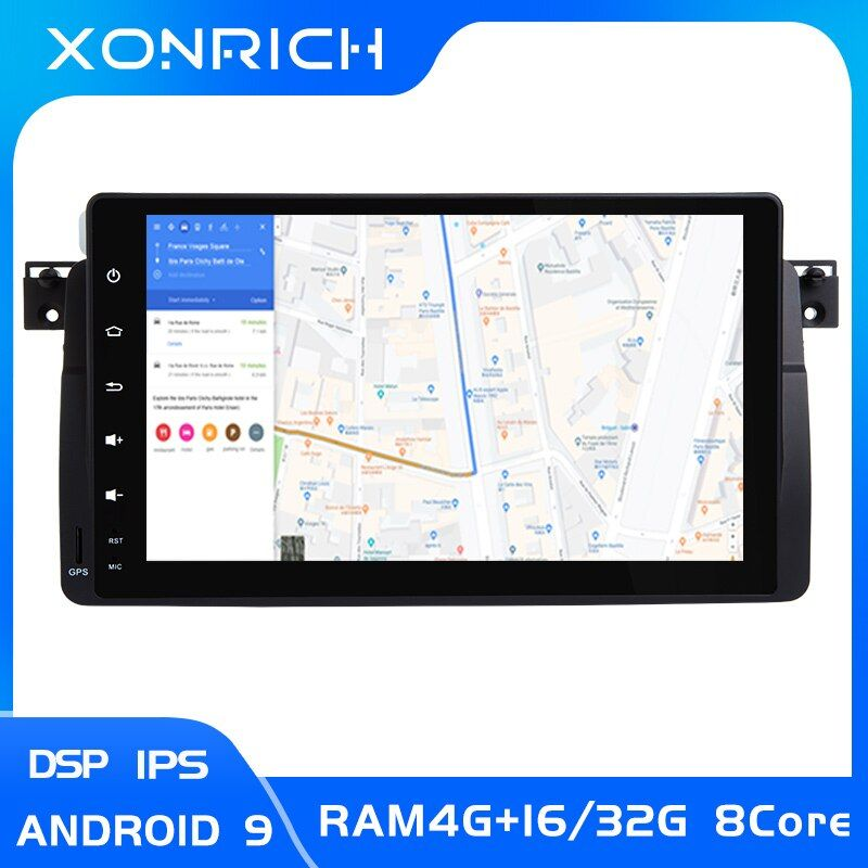 AutoRadio Auto Multimedia-Player 1 Din Android 9.0 Für BMW E46 M3 Rover 75 coupe 318/320/325/ 330/335MGZT GPS Navigation kopf Einheit
