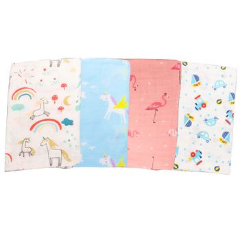 Muslin Wrap Newborn Infant Swaddle Blanket Baby Photography Wrap Unicorn Baby Blanket Mantas De Bebes Girls Stroller Cover Mat