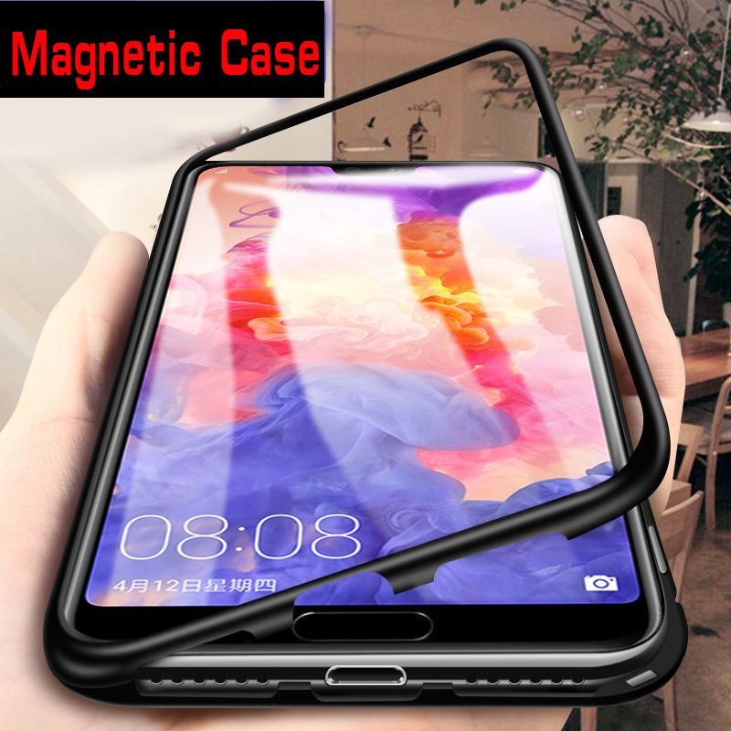 Metal Magnetic Case For Samsung Galaxy S8 S9 S10 Plus S7 Edge S10E Note 8 9 A30 A50 Cover For M20 M10 A7 A9 J6 Plus 2018 Cases