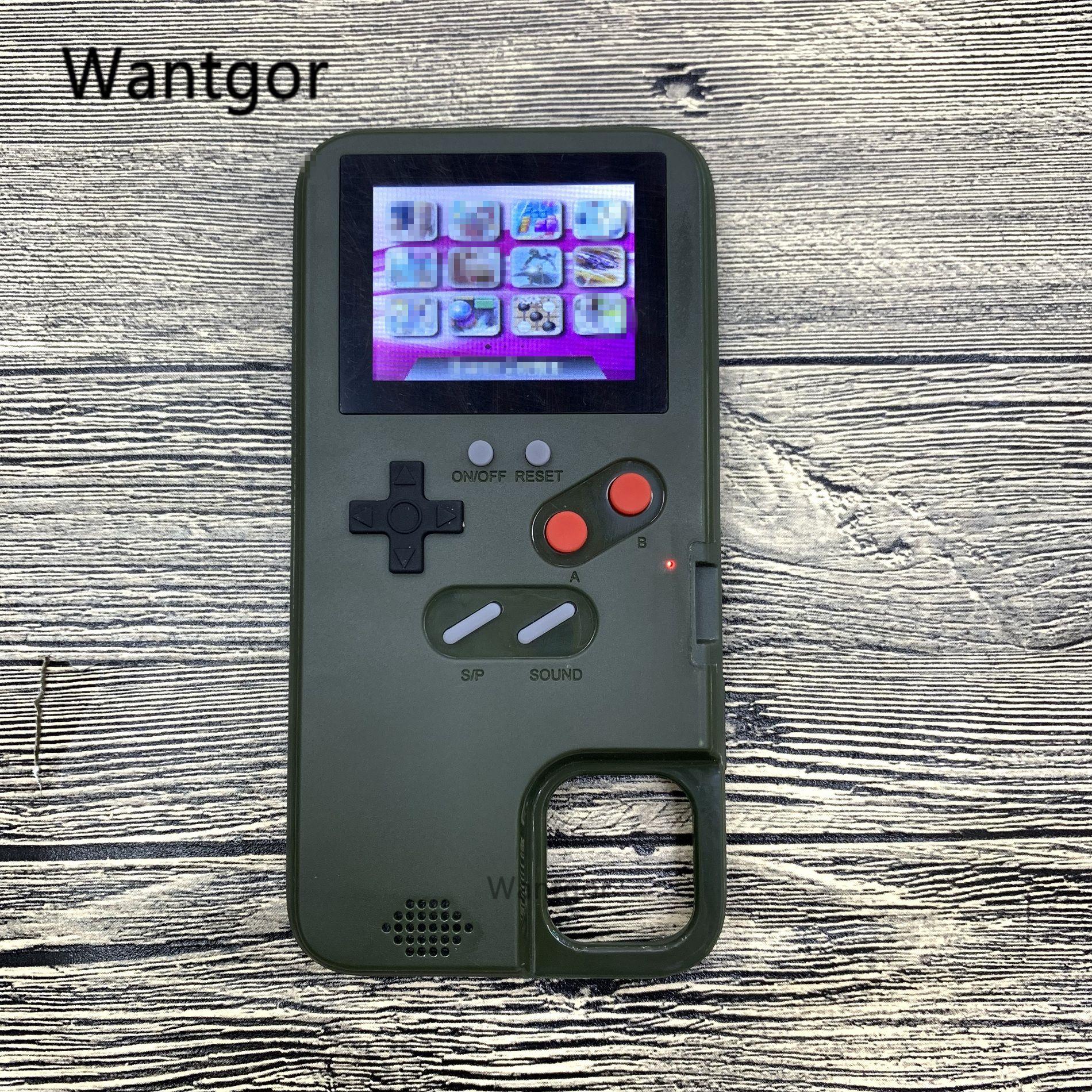 PAR Affichage Polychrome 36 Jeu téléphone étui pour iPhone 11 Pro 6 7 8plus TPU Cadre gameboy coque pour iPhone X Xs Max Xr Funda Capa