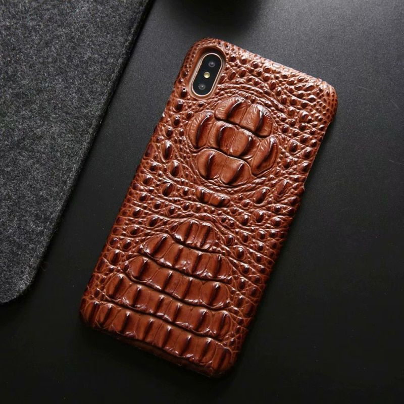 Latest Genuine Leather Back Cover Case For iphone Xs Max 7 8 Plus Luxury 3D Crocodile Skin Pattern Hard Cases For iphone 11 Pro MAX Mobile phone protective case