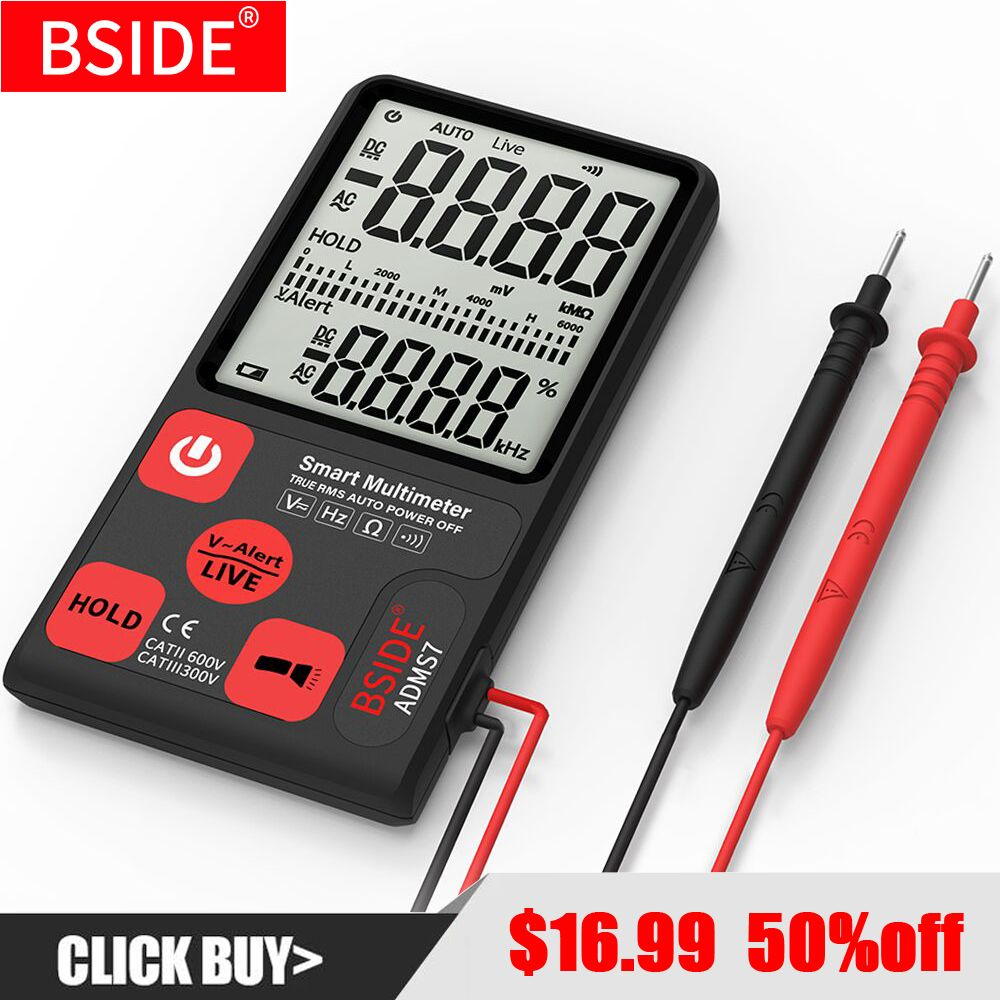 Ultra-Portable Digital Multimeter BSIDE ADMS7 Large 3.5