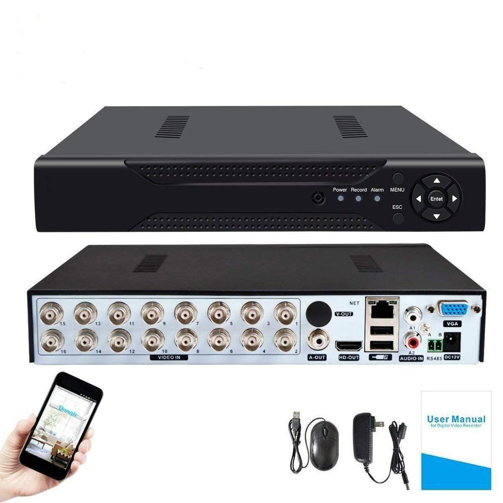 4CH/8CH/16CH H.264 AHD Sicherheit CCTV DVR 5MP/4MP AHD CVI TVI Analog IP Camera5 5MP 4.0MP Hybrid Video Recorder 4K Video Ausgang