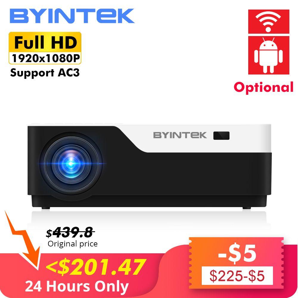 BYINTEK MOND K11 200 zoll 1920x1080 1080P VOLLE HD LED Video Projektor mit HD USB Für Spiel film Kino Heimkino