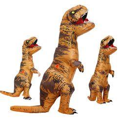 Взрослый детский надувной костюм динозавра T REX wo мужские костюмы динозавра инопланетянина Хэллоуин нарядное платье костюм карнавальный Ко...