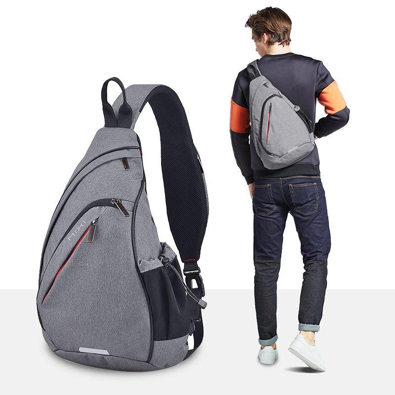 Mixi hommes une épaule sac à dos sac garçons travail voyage polyvalent mode sac étudiant école université 2019 nouveau Design