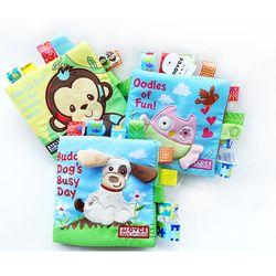 1 PC Bayi Tenang Kain Lembut Buku-buku untuk Anak-anak Belajar Sumber Daya Anak-anak Buku Pendidikan Mengembangkan Balita Mainan Kebun Binatang Cerita Bahasa Inggris