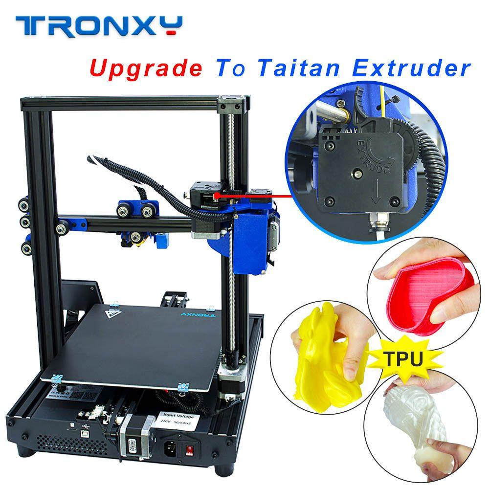 TRONXY 3D Drucker XY-2 Pro Verbesserte Schnelle Heizung Auto Nivellierung Lebenslauf Stromausfall Druck Filament Run heraus Detektor Titan