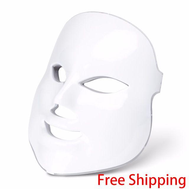 LED Facial masque de beauté élimination des rides dispositif électrique PDT Photon peau rajeunissement Machine de beauté thérapie Anti-âge