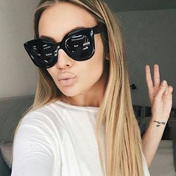 MADELINY Fashion Cat Eye Sunglasses Women Brand Design Vintage Gradient Cat Eye Sun Glasses Shades for Women Eyewear UV400 MA216