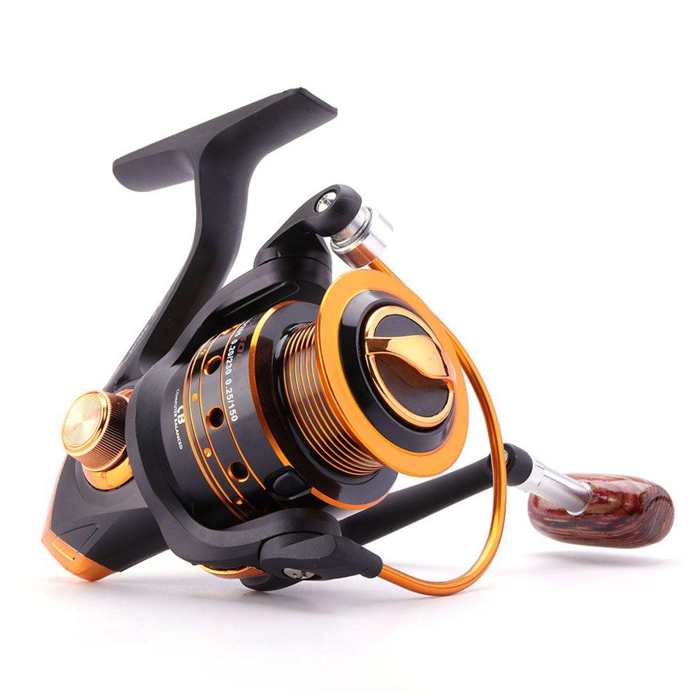 Bobine de pêche en rotation 12BB + 1 billes de roulement série 500-9000 bobine en métal bobine de filage bateau roue de pêche en roche