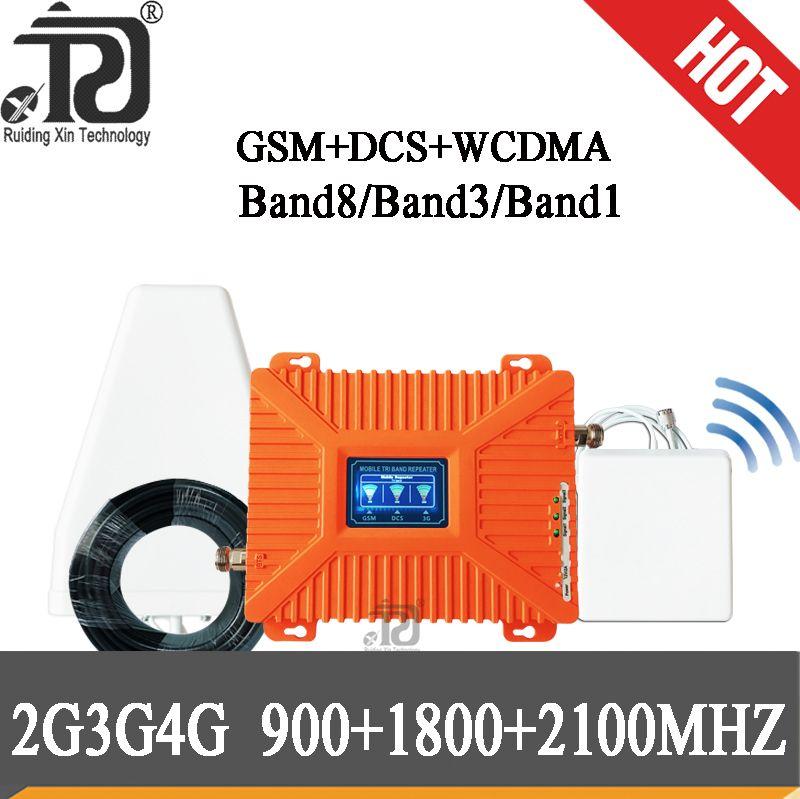 4g signal booster 900/1800/2100 Tri-Band-Handy Signal Booster LTE WCDMA GSM 2g 3g 4g gsm signal repeater 4G cellular verstärker