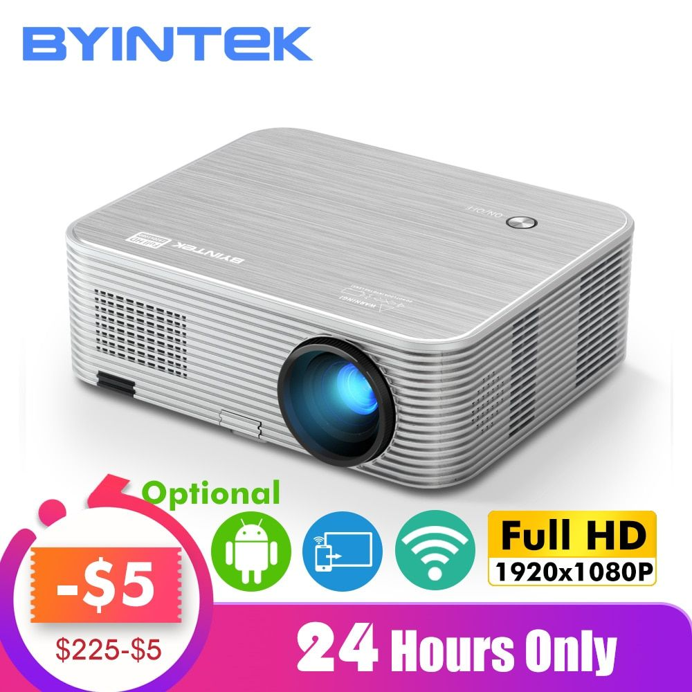BYINTEK MOND K15 Volle HD 1080P Android WIFI LED 1920x1080 LCD Video projektor Für Iphone SmartPhone
