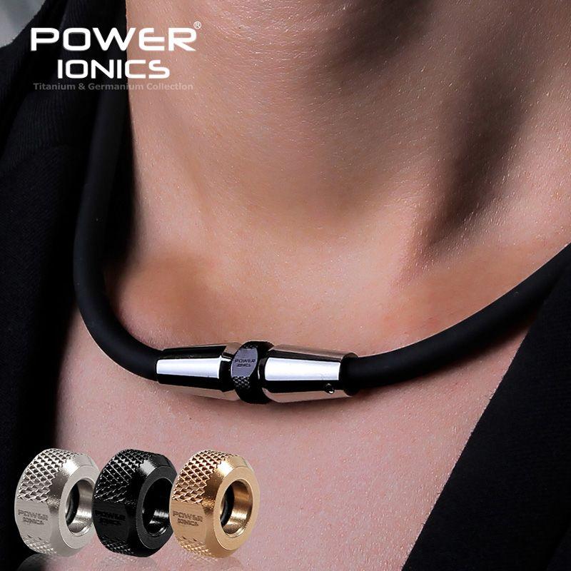 Puissance Ionics 3000 ions/cc Anion mode sport Golf Baseball titane Ion pendentif collier
