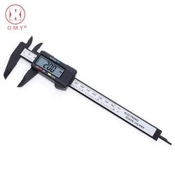 O.M.Y 1pcs Measuring Tool 0-150mm 6 Inch Plastic LCD Electronic Digital Carbon Fiber Vernier Caliper Rule Gauge Micrometer