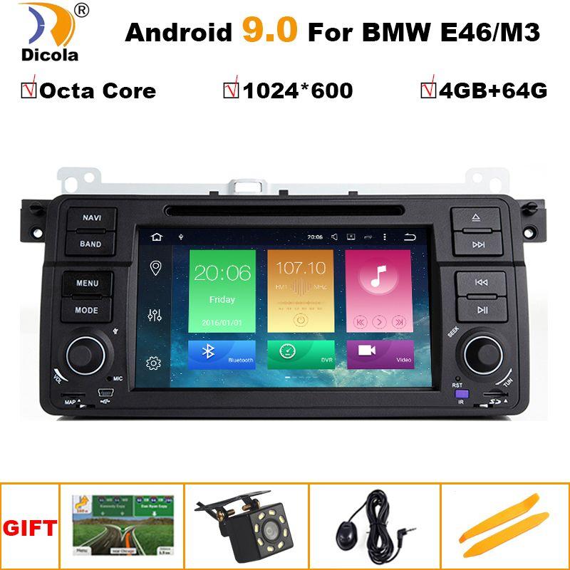4G + 64G PX5 Android 9.0 Eine Din Auto DVD Player für BMW E46 M3 Land Rover 75 3 serie Auto stereo Radio BT Wifi GPS Navigation
