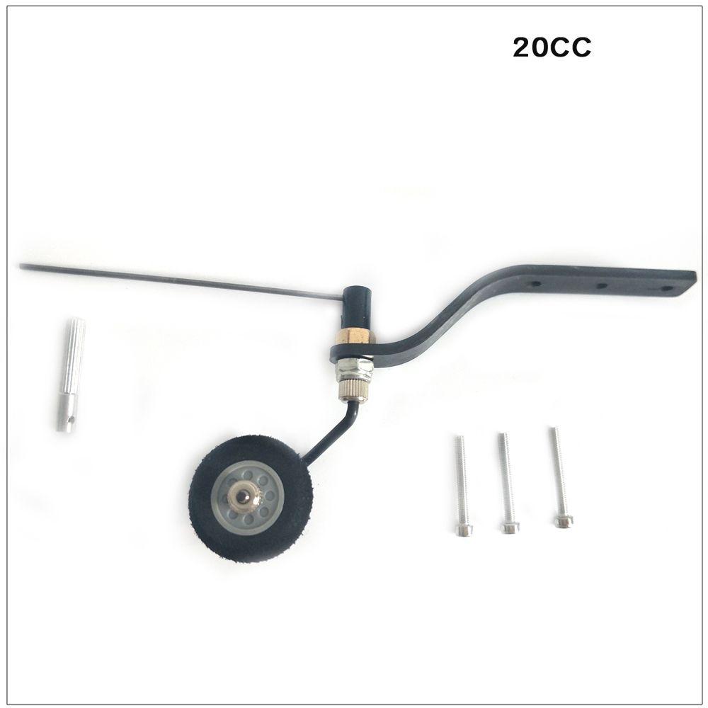Ensemble de roue arrière en Fiber de carbone pour roue éponge avion RC gaz 20cc nouveau