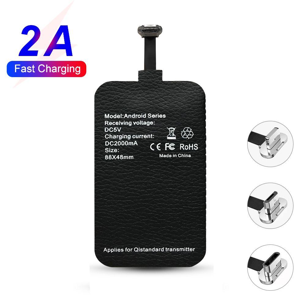 Rapide Qi Sans Fil Chargeur Récepteur pour chargeur sans fil Pad Bobine pour xiaomi Samsung huawei iphone 7 6plus 7plus Type-c/Type-a